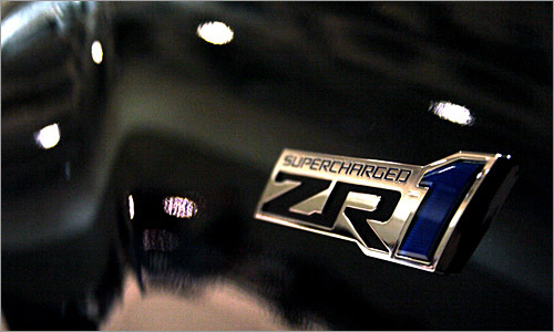 Tobias has some good detail photos--here's the special badge on the Corvette ZR1.