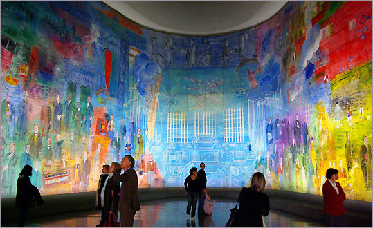 Raoul Dufy's 6,450-square-foot mural, ''La Fée Electricité'' (1937), at the city-run free Museum of Modern Art of the City of Paris.