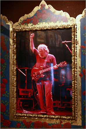 A photo of Jerry Garcia in the Fillmore.
