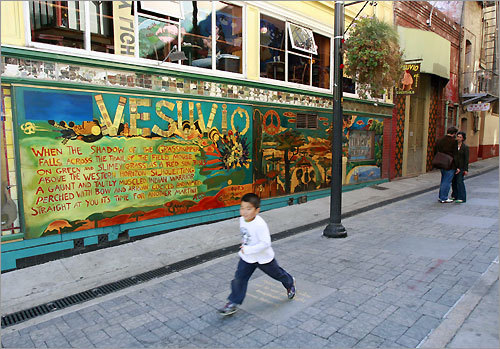 Jack Kerouac Alley. The Vesuvio Cafe is one of the early hangouts of the Beat Generation.
