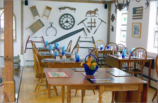 The White Barn's breakfast room at the Jacob Hill Inn occupies the former horse stalls. The building was renovated in 2004.