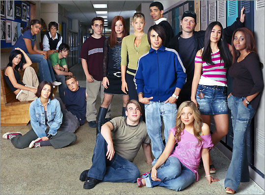 The cast of the Canadian television show ''Degrassi: The Next Generation.'' The teen drama, now in its eighth season, is filmed in Toronto.