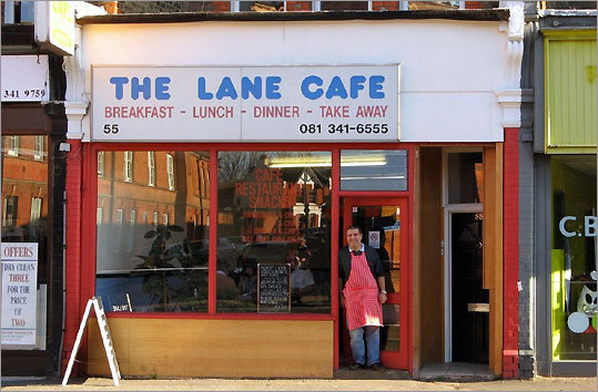 This cafe, with its friendly owner and greasy grill, was used for photos for a Ray Davies record.