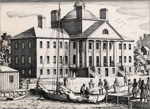When Massachusetts General Hospital helped found Partners HealthCare, the Boston hospital had already been a storied institution for generations. 1821: Mass. General's original structure, the Bulfinch building, opened with the first patient, a sailor with syphilis. Until the Charles River was filled in to make way for a growing urban population, patients and supplies were often ferried in by boat.