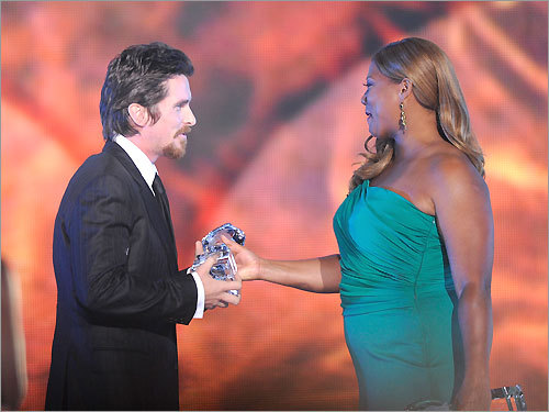 Christian Bale and Queen Latifah
