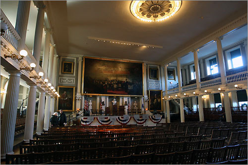 The Grand Hall at Faneuil Hall.