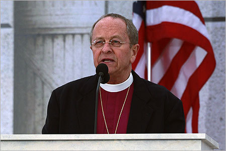 New Hampshire Episcopal Bishop V. Gene Robinson, the first openly gay Episcopal bishop, delivered the invocation.