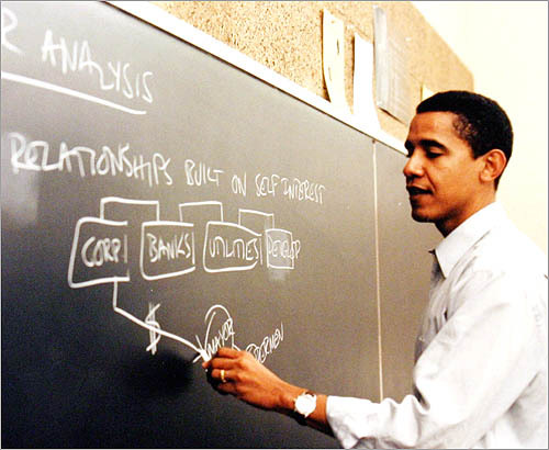 Barack Obama at University of Chicago Law School