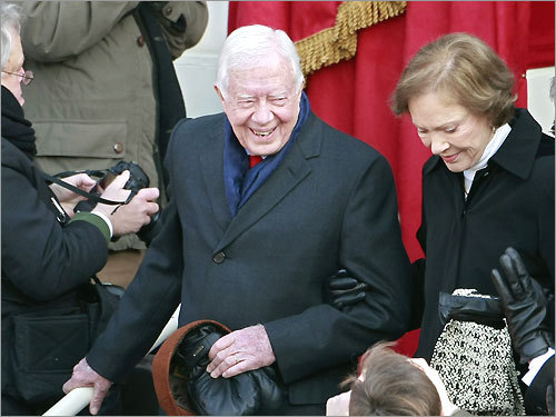 Former President Jimmy Carter and wife Rosalynn