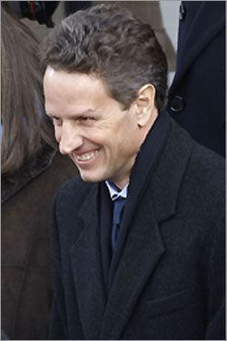 Secretary of Treasury nominee Timothy Geithner