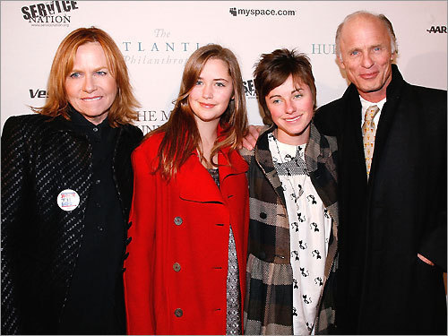 Actor Ed Harris and his family
