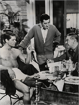 Stephen Boyd, Tony Bennet, and Milton Berle