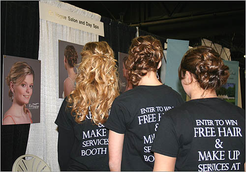 Bridal hairstyles by En Vogue Salon and Day Spa.