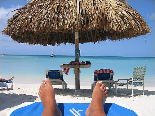 Jilane Previte on her honeymoon in Aruba.