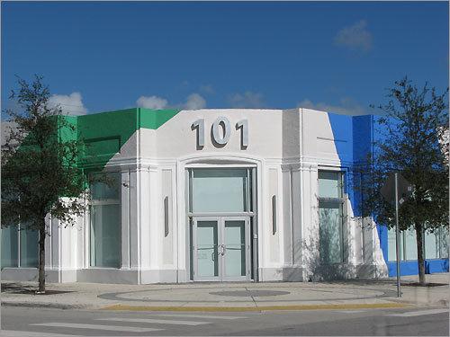 Colorful architecture dots Miami's Design District.