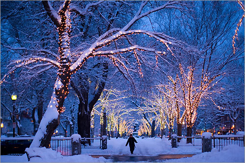Commonwealth Avenue Mall A walk down the 32-acre strip on Commonwealth Avenue in the winter is ebosos75's romantic pick. When is the best time to go? 'At night, under hundreds of Christmas lights — incredibly memorable.'