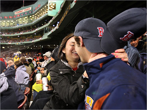 Fenway Park during 'Sweet Caroline' Red Sox plus Neil Diamond equals romance in dano10 's eyes. Steal a smooch during the 8th inning as the crowd belts around you. Good times never seemed so good.