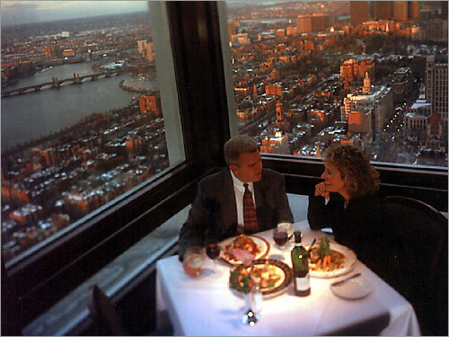 Top of the Hub Thirty-nine years ago, golfer2002 's husband proposed at the Top of the Hub. 'It's got to be the most romantic place in Boston!'