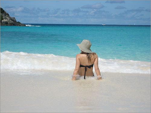 Trunk Bay on St. John in the US Virgin Islands.