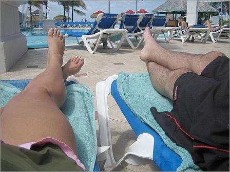 Honeymooning in St. Lucia.