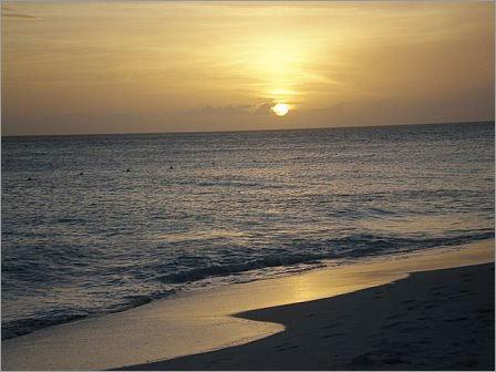 Sunset in Aruba.