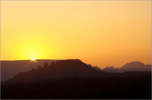 Sunset over the mesas in Sedona, Arizona.