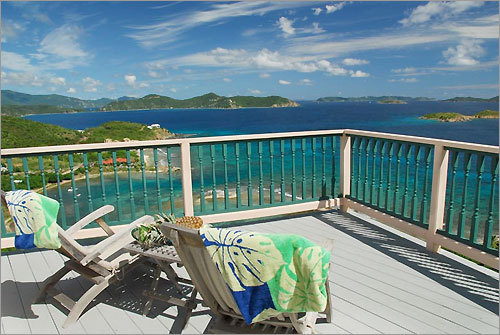 Lunch on deck, paradise on tap in St. John, USVI.