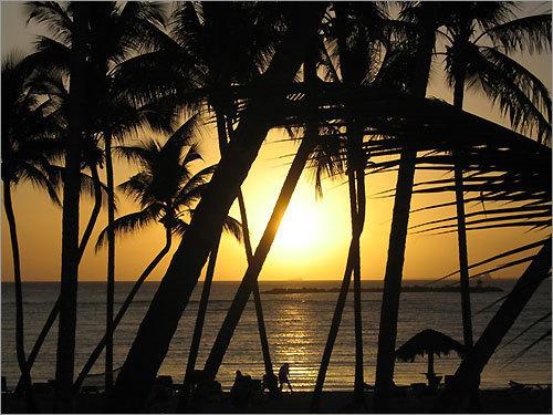 Finalist #8 Sunset in Punta Cana, Dominican Republic.