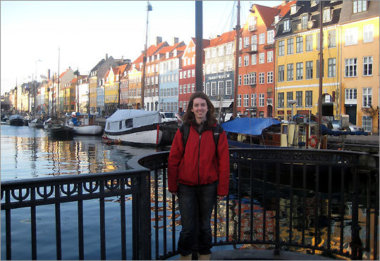 Kathleen Keating at Nyhavn Harbor in Copenhagen.