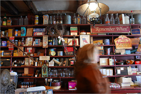 A ''wall of honor'' displays a trove of old-time items that are not for sale, but elsewhere the store offers plenty of goods that are.