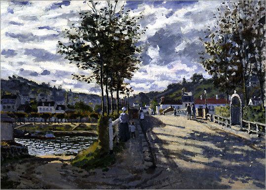 Claude Monet's 'The Seine at Bougival' on display at the Currier Museum of Art illustrates the first phase of the style.