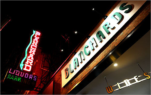 The Blanchard's liquor store sign in Jamaica Plain is one of the best maintained neon signs in the area.
