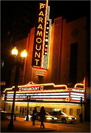 Paramount Theatre on Washington Street.
