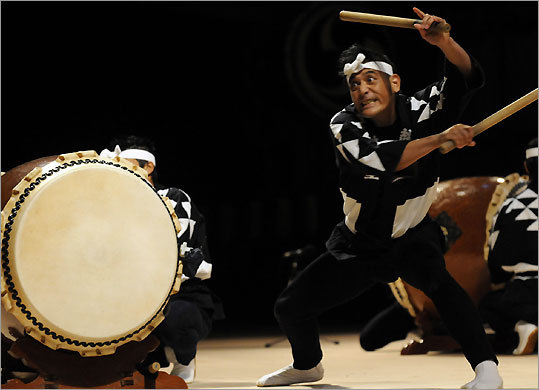 Kodo, the renowned taiko drumming group who will perform in Boston next month, played at the annual Earth Celebration music festival on Sado Island, Japan, last year.