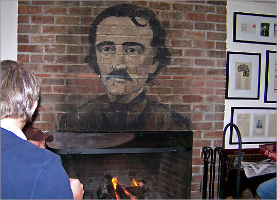On Sullivan's Island, S.C., where he lived briefly, Edgar Allan Poe's face is over the fireplace at Poe's Tavern and Raven Drive, right, is named for his famous poem.