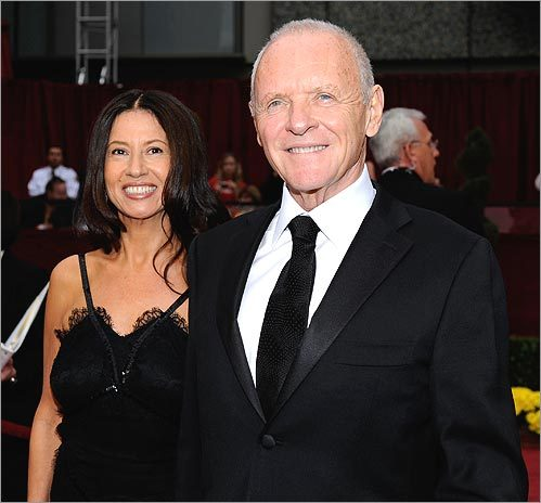 Actor Anthony Hopkins and wife Stella Arroyave made their way into the Kodak Theatre. Hopkins has been nominated for several Oscars and awards. In 1992, he won best actor for a leading role for his work in 'The Silence of the Lambs.'