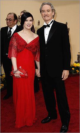 Actors Phoebe Cates (left) and Kevin Kline .
