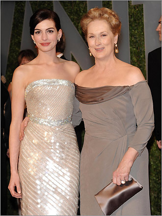 Anne Hathaway and Meryl Streep