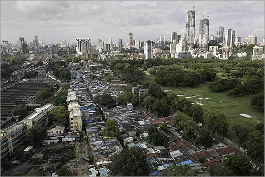 Dharavi, in Mumbai, India.