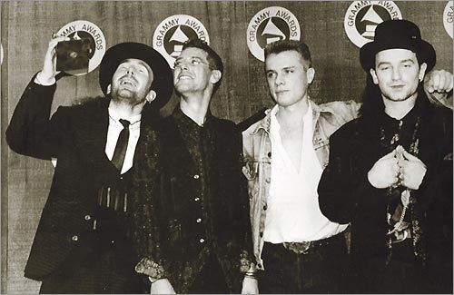U2 at Grammys in 1988