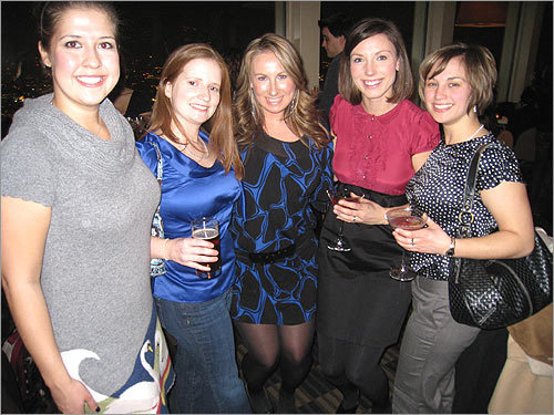 Party on, Boston Jessica Orndorff of Brookline shared this photo of the ABC bar-hopping club's event at the Top of the Hub. From left: Kristen Carrillo, Emily Beck, Michelle King, Erin Gildea, and Leslie Stachowiak.