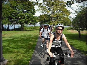 Get a workout while wheeling around Beantown with Boston Bike Tours. Learn about the city — and be green at the same time. The tours are moderate to slow -paced and travel along paths, through parks, and quiet streets. The tours are suitable for children confident on a bike. The price includes the guided tour, bicycle, helmet, and water. Tour begins: All tours meet at the Boston Bike Tours stand which is Park St. Station. Costs and hours: $35-$40. Tours run on the weekends from April 18 to June 30, and from Sept. 1 to Oct. 31. Tours run daily in July and August. Reserve a spot at bostonbiketours.com