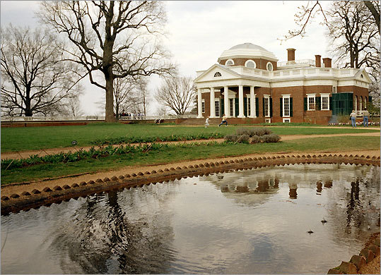 Its design included Monticello's reflection in the fish pond.