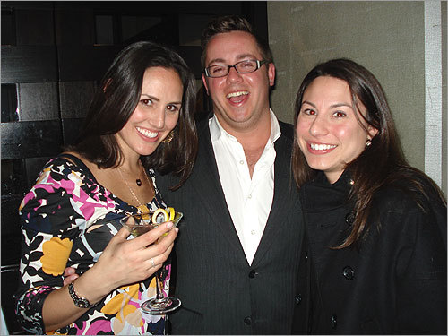 Party on, Boston Chiara (Berti) Clark, Jay Manciocchi, and Amy Schron Diaz at Minibar. Happy 32nd birthday, Chiara!