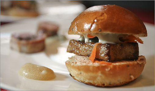 Pork belly banh-mi by chef Tony Maws of Craigie on Main.
