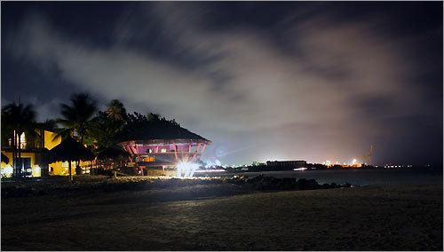 Bars on the beach.