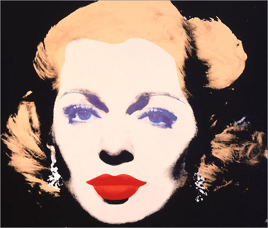 Andy Warhol's portrait of Lana Turner, dated 1985, is one of nearly 150 of his works on exhibit at the Grand Palais in Paris through July 13.