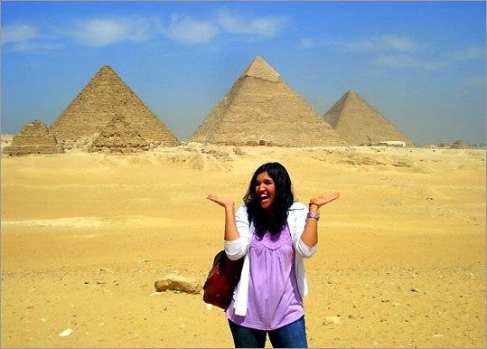 Olinda Hassan, a junior at Wellesley, is studying in Egypt this semester.