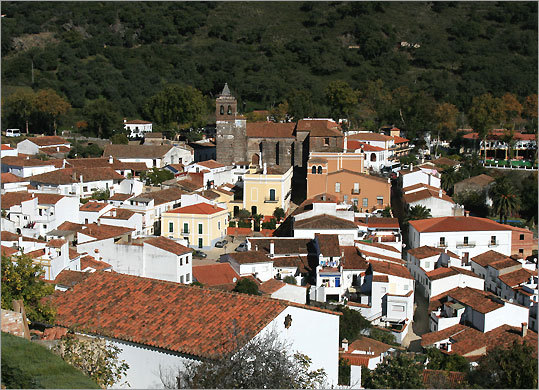 The Sierra de Aracena village of Almonaster la Real.
