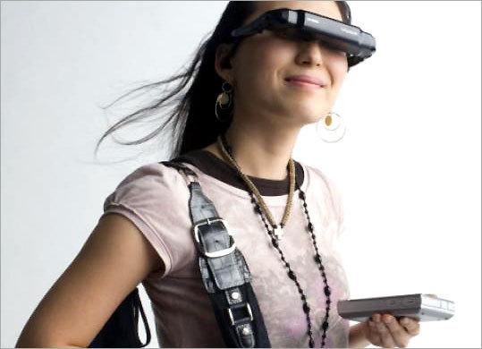 Vuzix's AV920 eyewear gadgetry is billed as augmented reality.